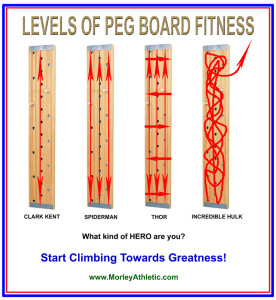 Climbing Peg Boards make you super!