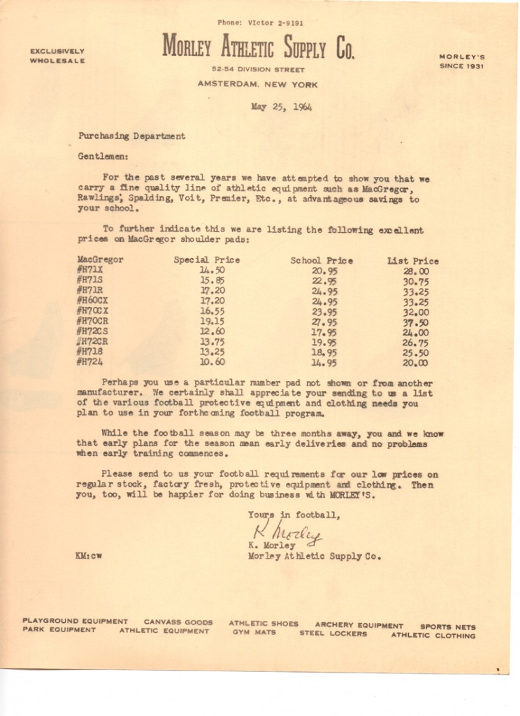 small 05-25-1964 SHOULDER PAD PRICES
