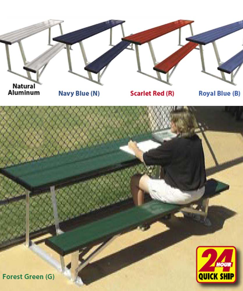 7 1/2' Outdoor Scorers Table With Bench