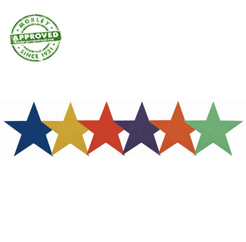 """9"""" Poly Star Markers Set Of 6"""