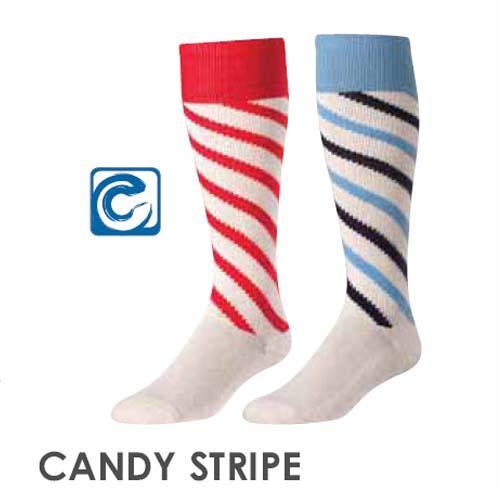 TCK Candy Stripe Heel & Toe Soccer Socks