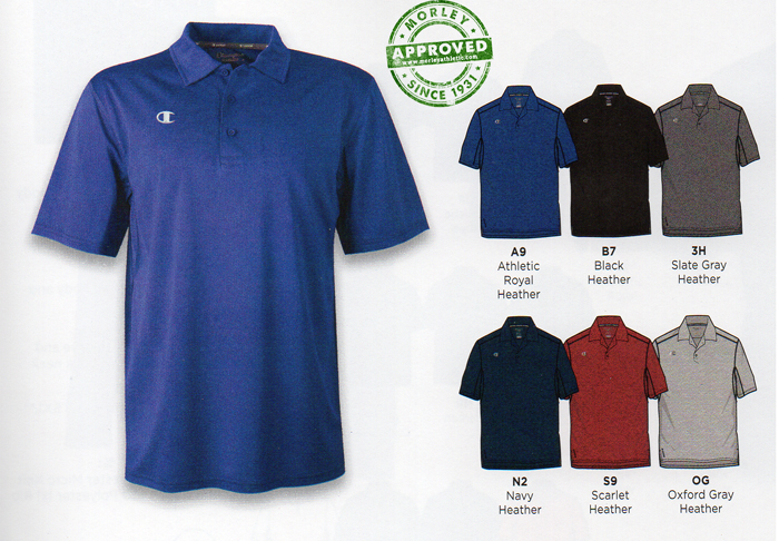 Champion Vapor Heathered Short Sleeve Polo