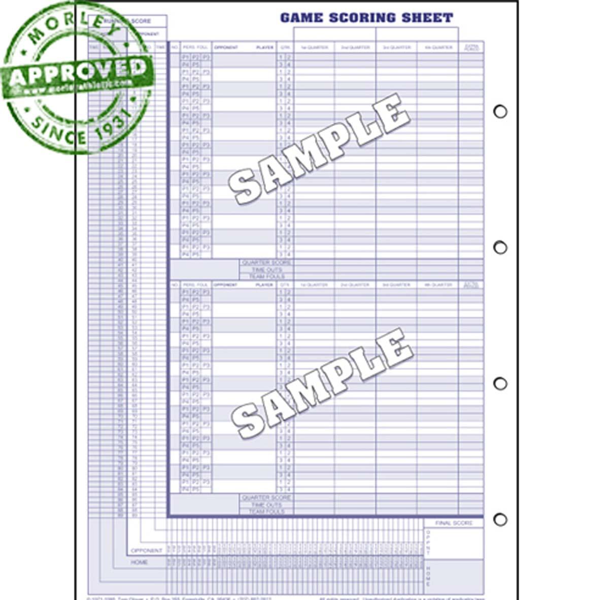 Glovers Short Form Wrestling Scorebook (Each)