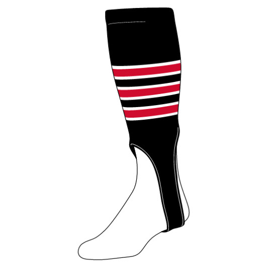 in_stock_featheredge_pattern_baseball_stirrups_black_white_scarlet