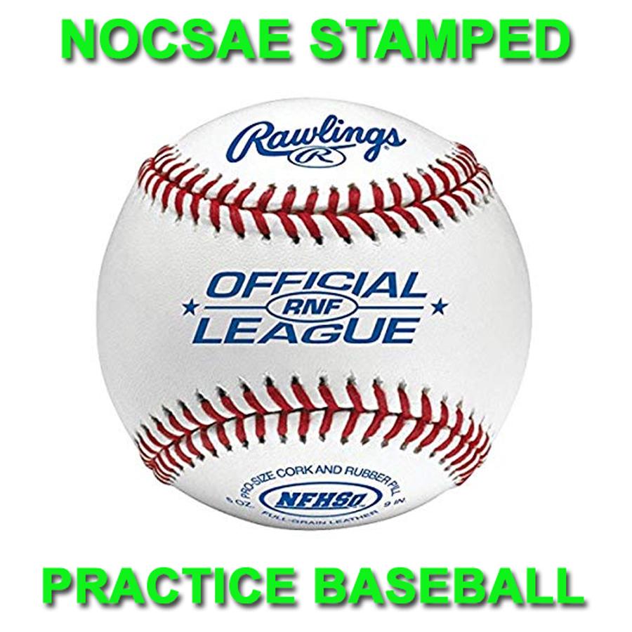 nocsae_stamped_rawlings_rnf_high_school_practice_baseballs__dozen_