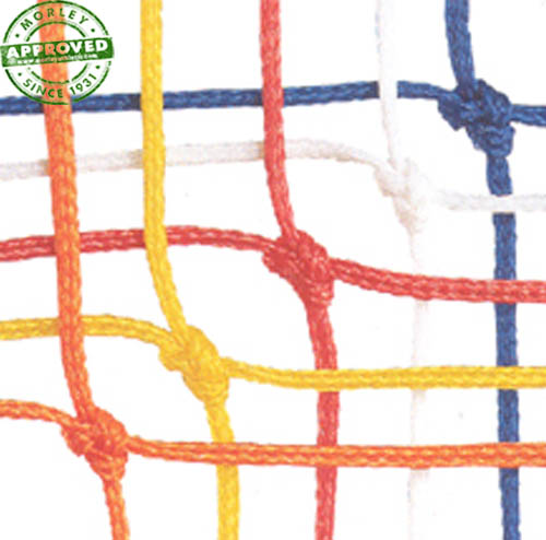 Official Size 4.0 Mm Braided Soccer Net Pair