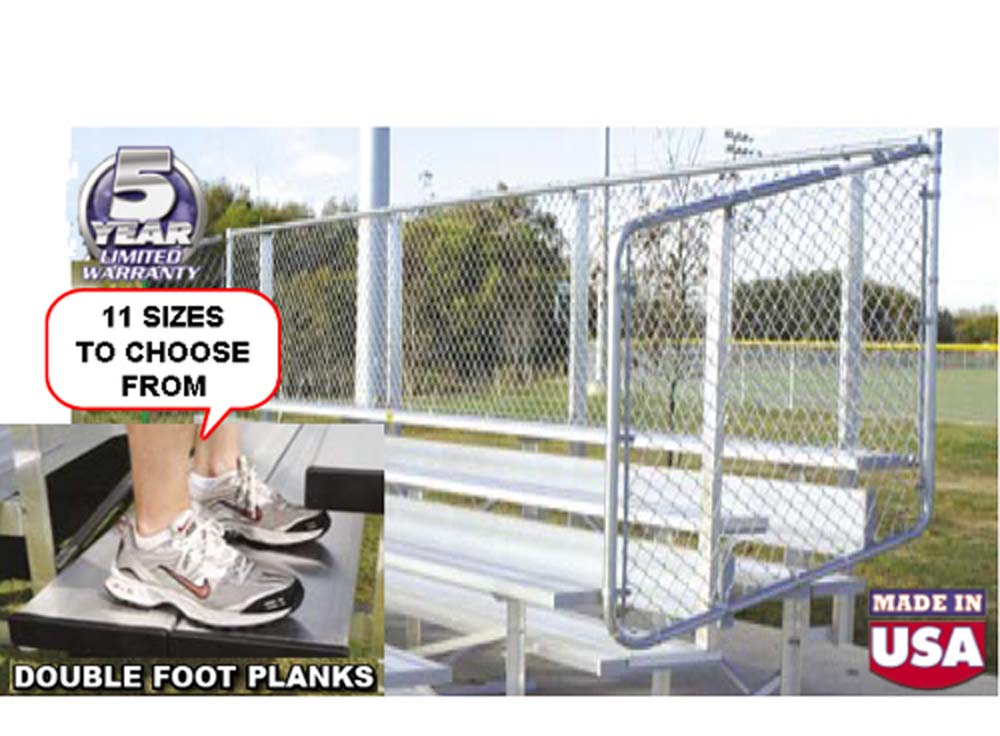 Preferred Stationary Aluminum Bleachers [Double the foot room]