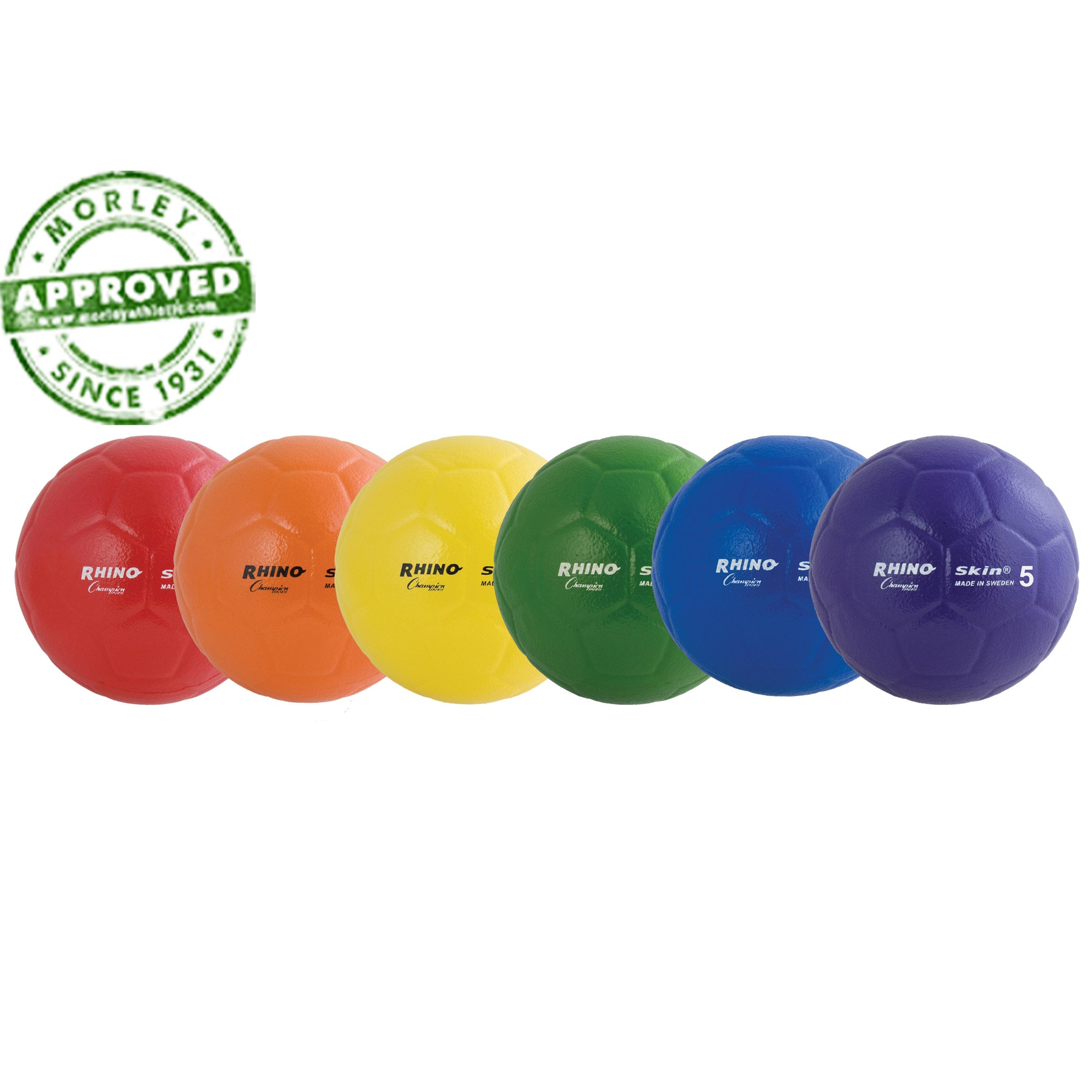 Rhino Skin Foam Size 5 Soccer Ball Rainbow Set Of 6