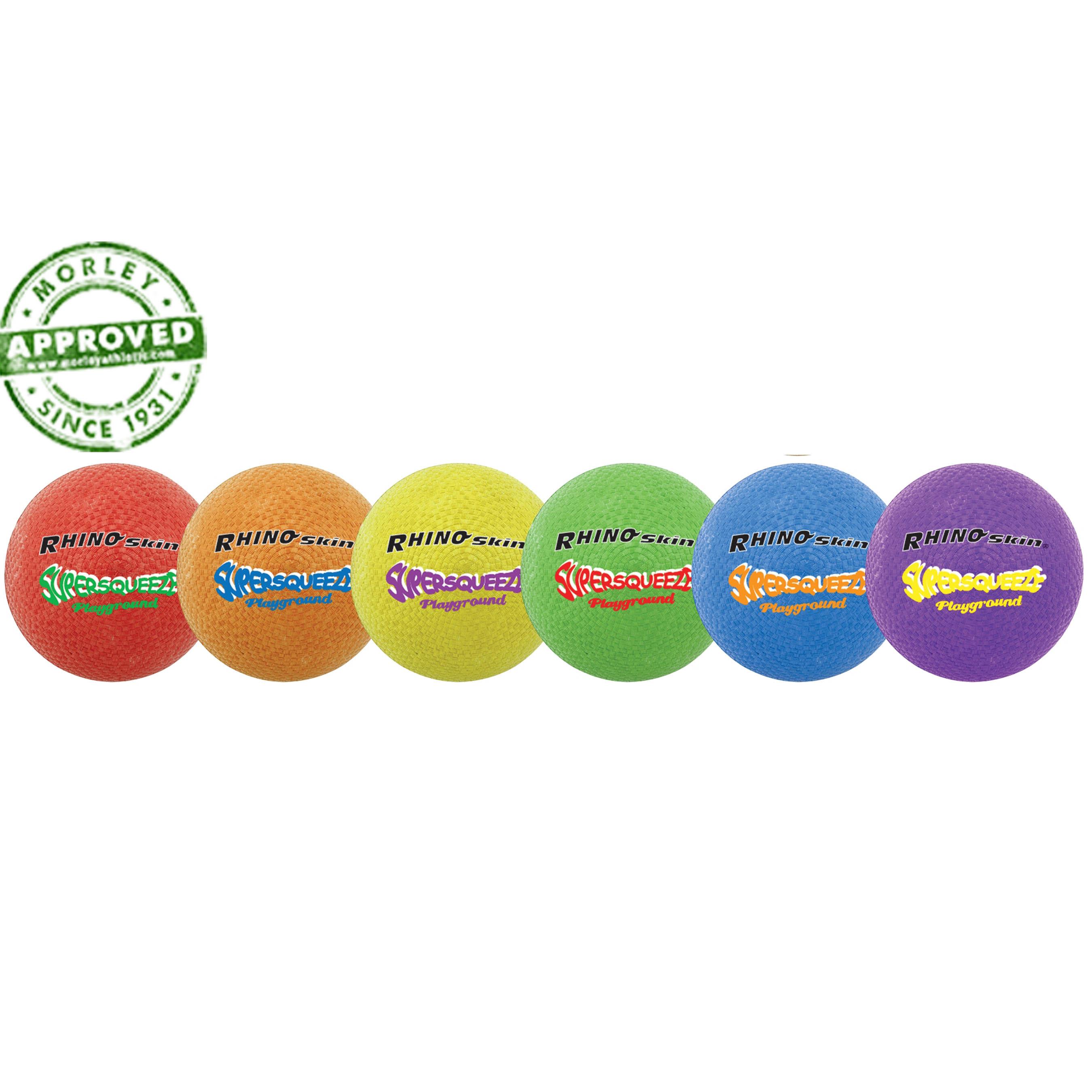 Rhino Skin Super Squeeze Playground Ball Set Of 6