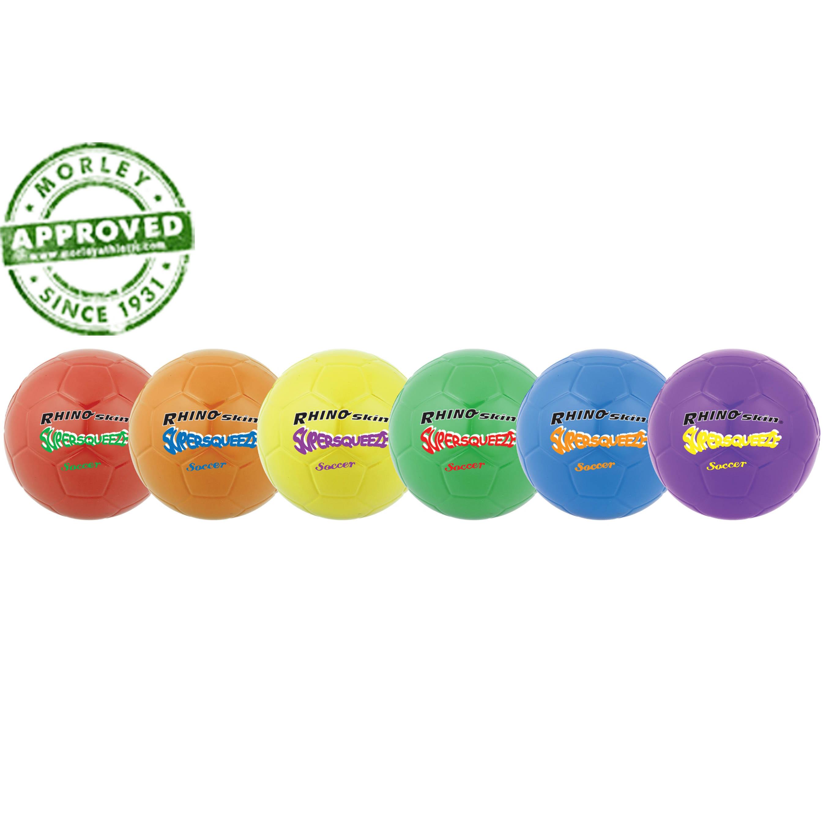 Rhino Skin Super Squeeze Soccer Ball Set Of 6