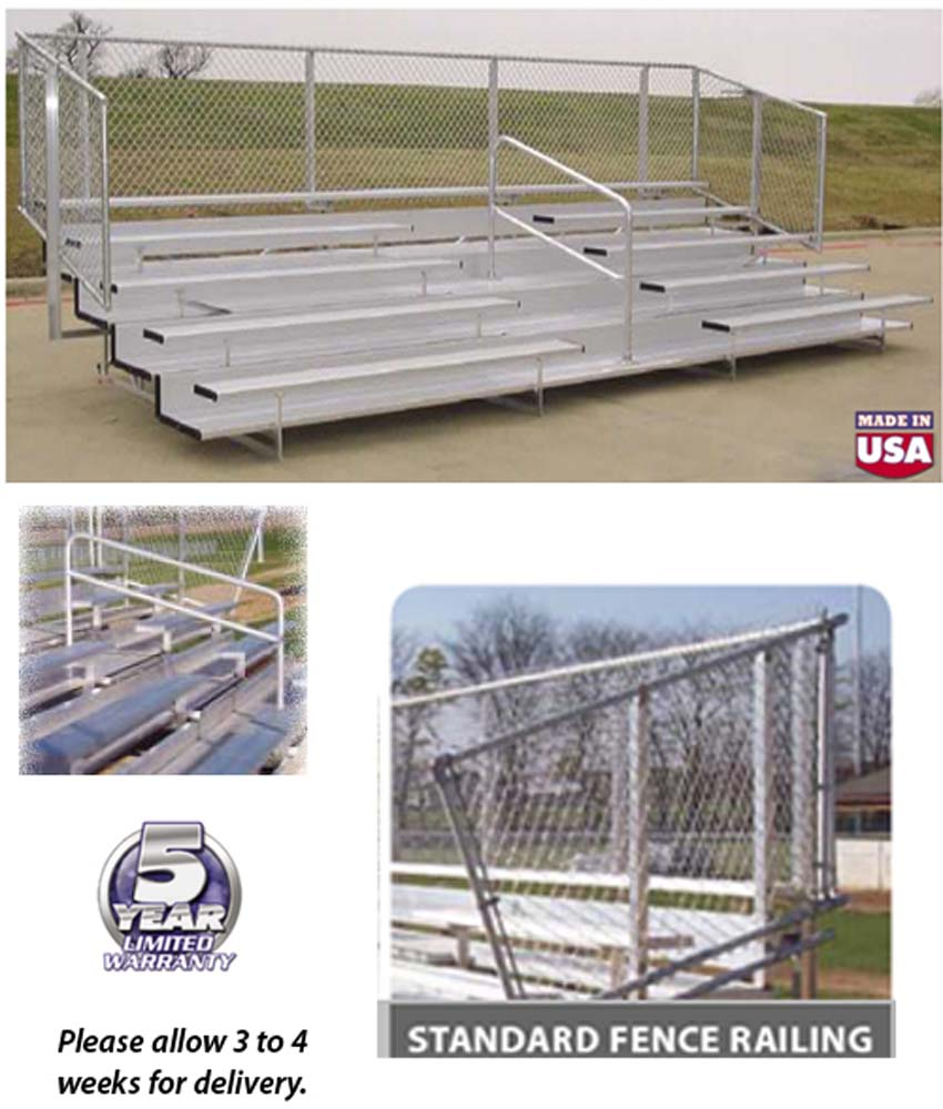 VIP Series Bleachers With Std Fence Rail