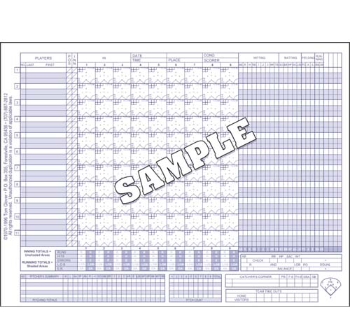 Printable Baseball Score Sheet   Baseball Scorecard | Olive Juice.  Scorebooks | Morley Athletic