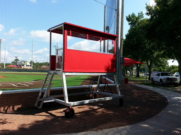 Portable Press Boxes : Portable press box coaching or filming tower get free