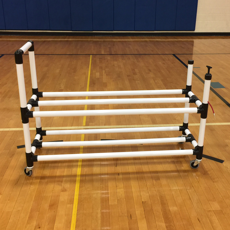 New Power Dribble Ball Cart With Built In Ball Pump
