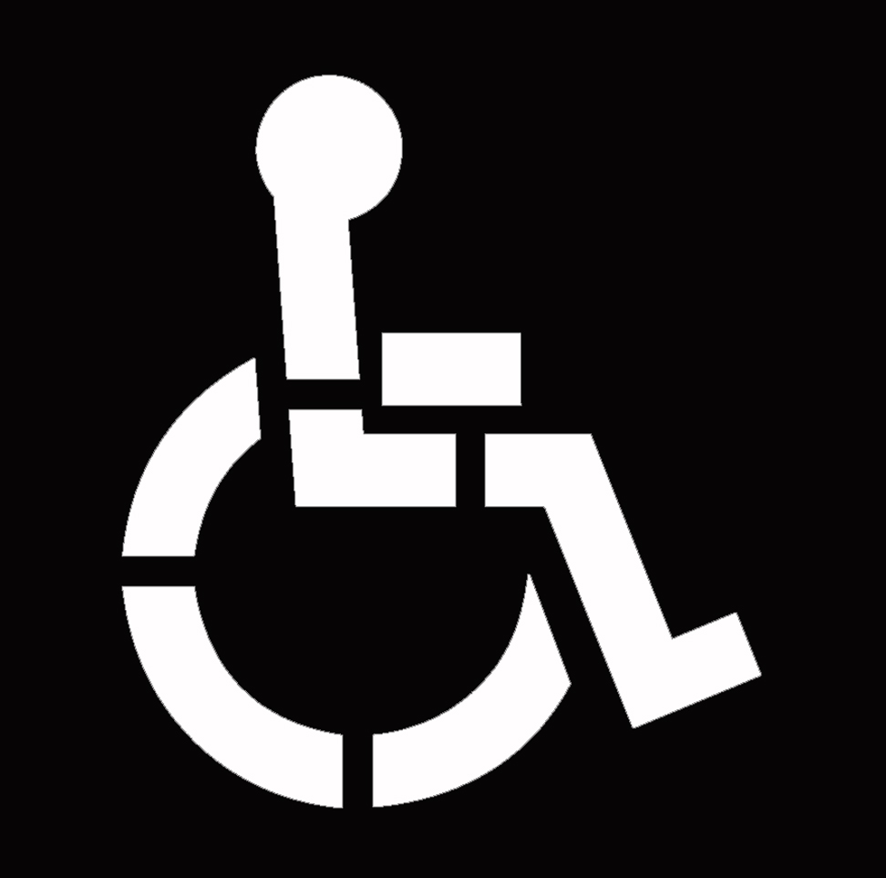 39 Quot Handicap Stencil