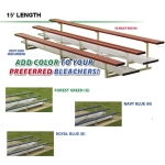 15' Powder Coated Aluminum Bleachers