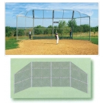 20' X 10' Baseball Backstop With Wings And Hood