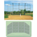 20' X 15' Baseball Backstop With Wings And Hood