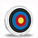 "36"" Glassflex Skirted Round Archery Target Face"