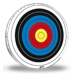 "48"" Glassflex Skirted Round Archery Target Face"