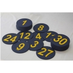 "5"" Numbered Poly Spots Set of 1 to 30"