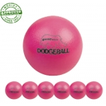 "6"" Rhino Skin Neon Pink Dodgeball Set Of 6"