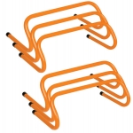 6 Inch Mini Pro Weighted Training Hurdles Set Of 6