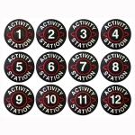 Activity Station Spot Marker Set Numbered 1-12
