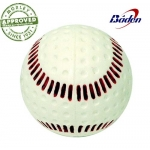 "Baden White 9"" Dimpled Red Seam Baseball"