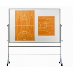 Basketball Dry Erase Board On Wheels - USA Made! [Free Accessories Included]