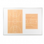 Basketball Premier Wall Mounted Magnetic Coaching Board - USA Made! [Free Accessories Included]