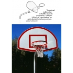 "Bent Post 4 1/2"" O.D. Basketball Backstops"