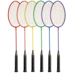 BR20SET Tempered Steel Badminton Racket Rainbow Set (Set of 6)