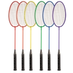 BR21SET Rainbow Badminton Rackets With Coated Steel Strings (Set of 6)