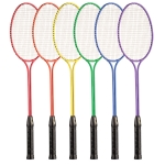 BR30SET Tempered Steel Rainbow Badminton Racket Set (Set of 6)