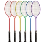BR31SET Twin Shaft Tempered Steel Badminton Racket Rainbow Set (Set of 6)