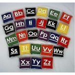 CANVAS ALPHABET BEAN BAG SET