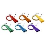 Champion Sports 3MM Double Bearing Speed Rope Adjustable Length Rainbow Set Of 6