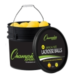 Champion Sports Lacrosse Ball Bucket With 36 Yellow Balls