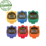 Champion Sports Rainbow Stopwatch Set Of 6
