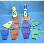 CONE COVERS WITH SLEEVES SET OF 10