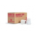 "Cramer Tear Stretch Tape 3"" X 7 1/2"" Yds White 16 Rolls Per Case"