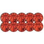 CREATIVE BASKETBALL SPOT MARKERS NUMBERED 1-10