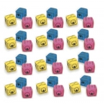 CUBED JUGGLING BEAN BAG CLASS SET OF 36