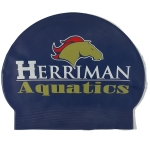 Custom 30 Gram Latex Swim Cap - 3 Color Logo