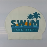 Custom 30 Gram Latex Swim Cap - 4 Color Logo