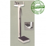 Detecto 438 Eye Level Physicians Scale With Height Rod & Wheels