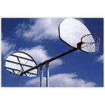 Double Basketball Backstop System