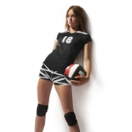 Duc Slam Model Cap Sleeve Performance Volleyball Top