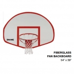 "Spalding Fan Fiberglass Basketball Backboard 54"" X 39"""
